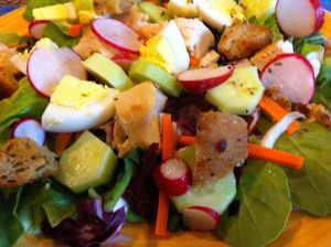 Thai Chicken Salad, Croutons & Dressing | Salad Bar | Pinterest