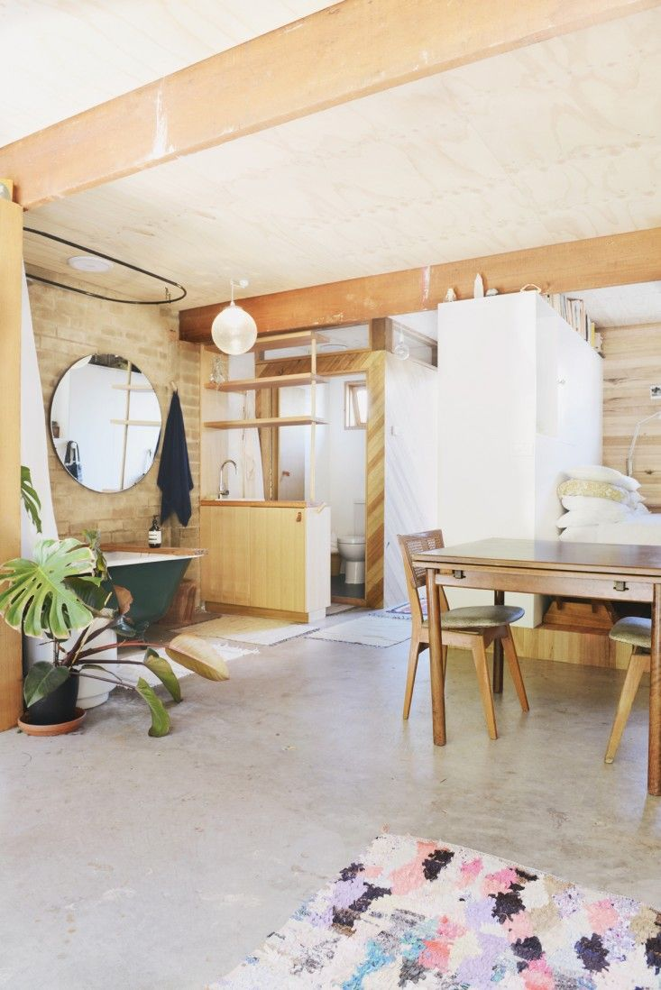 Garage turned into a studio apartment interiors pinterest for Garage studio apartment