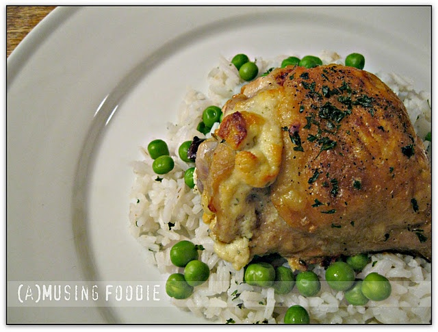 Roast chicken thighs stuffed with garlic & herb goat cheese. #recipes ...