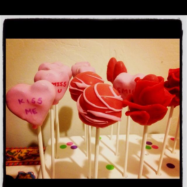 valentine's day cake pops 2011