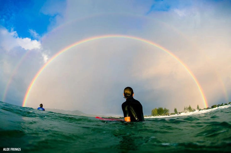 double rainbow! | Happiest Place on Surf | Pinterest