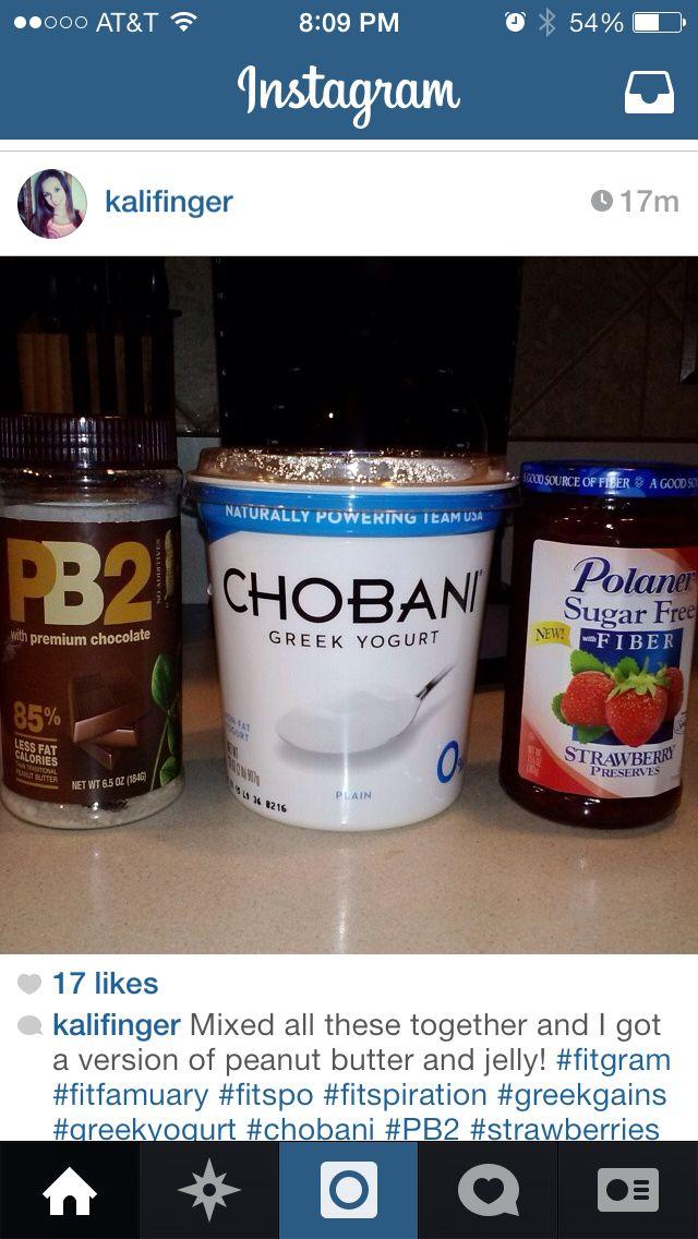 PB&J Greek Yogurt | IIFYM | Pinterest