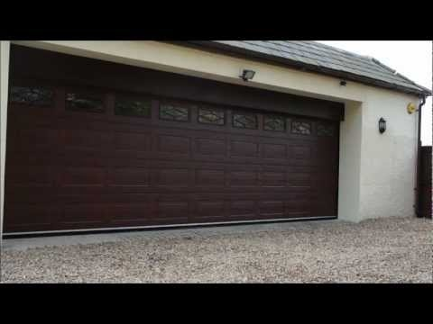 Huge 7m wide garage door in operation garage doors for How wide is a standard garage door