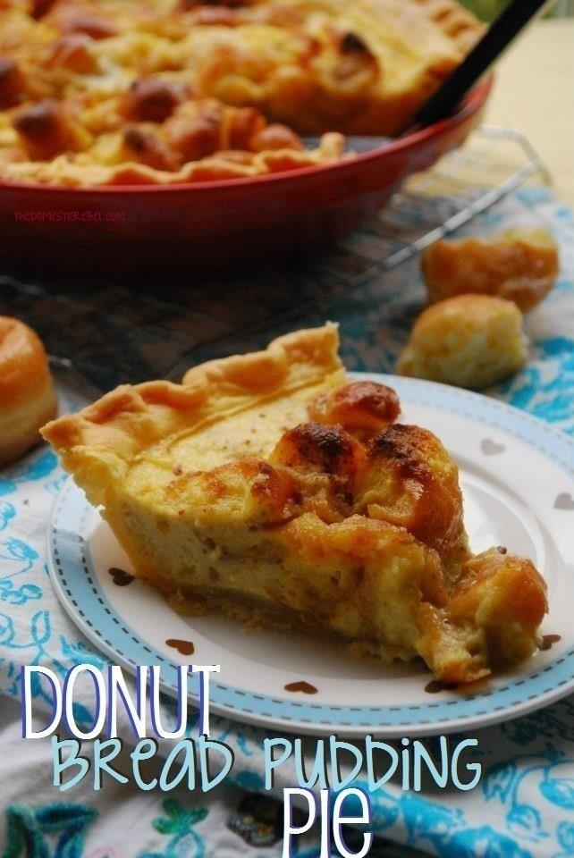 Donut Bread Pudding Pie | Recipe