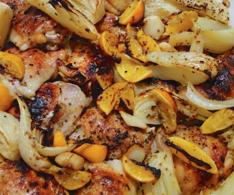 Roast chicken with pixies, fennel and ouzo via @somethingnewfordinner ...