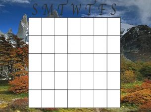 Blank Mountain Monthly Calendar | Printable Calendars | Pinterest