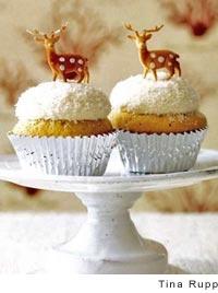 Coconut Snowball Cupcakes by Matt Lewis and Renato Poliafito