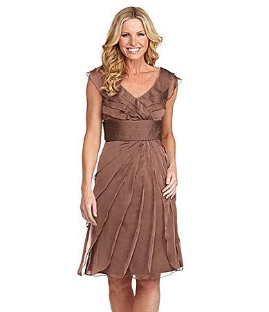Adrianna Papell Chiffon Dress Dillards