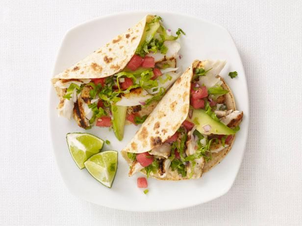 Celebrate Taco Tuesday with #FNMag's Fish Tacos with Watermelon Salsa #FishTacos #GrillingCentral #TacoTuesday