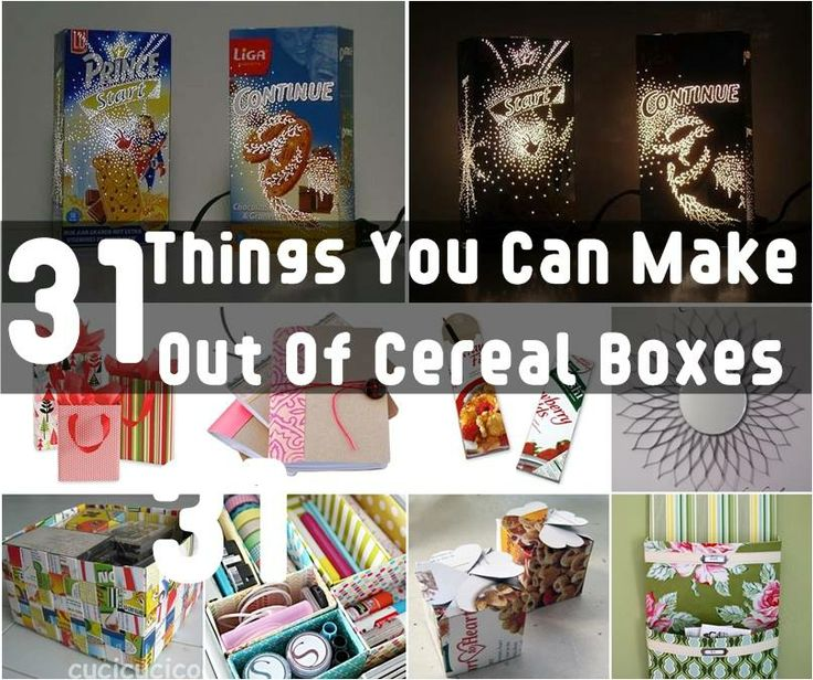 Pin by k m godiciu on cute crafts d pinterest for What to make out of cereal boxes