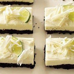 White Chocolate and Lime Cheesecake Bars | White Chocolate | Pinterest