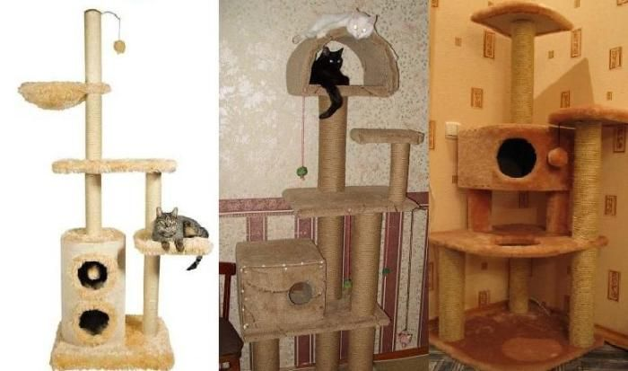 Как сделать для кота домик своими руками с чертежами