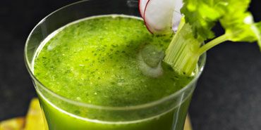 ... , cucumber, celery, spinach, cilantro, jalapeno. Different anyway