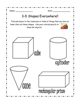 Homework help 3d shapes