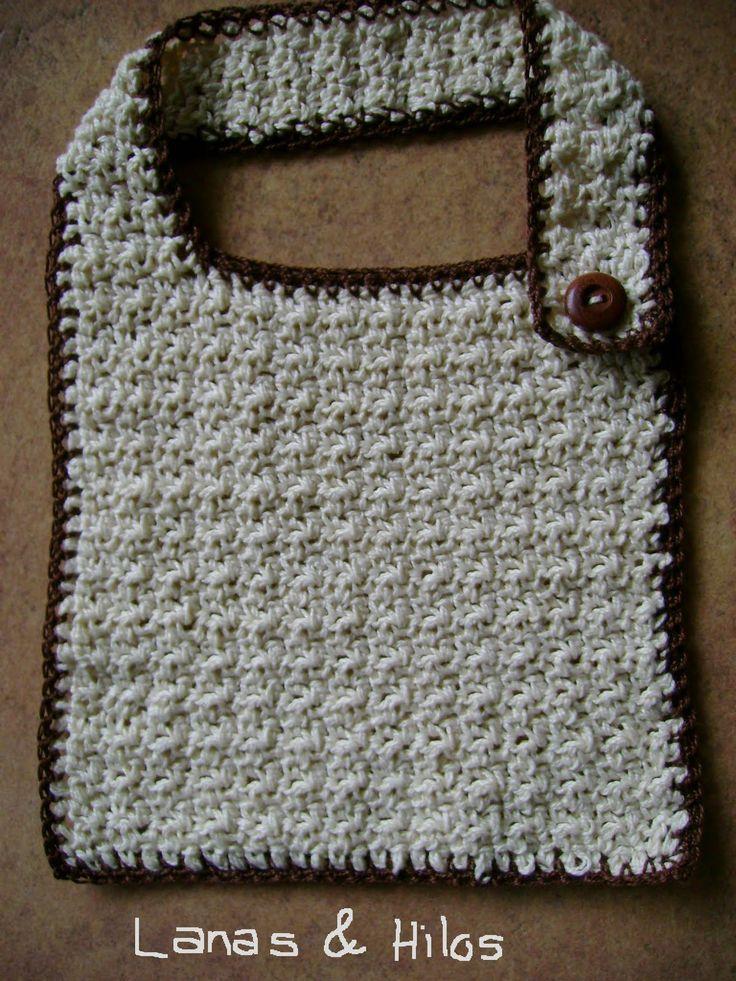 Pretty crochet baby bib