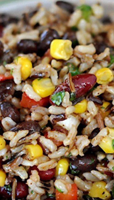 Confetti Rice and Bean Salad | Recipe