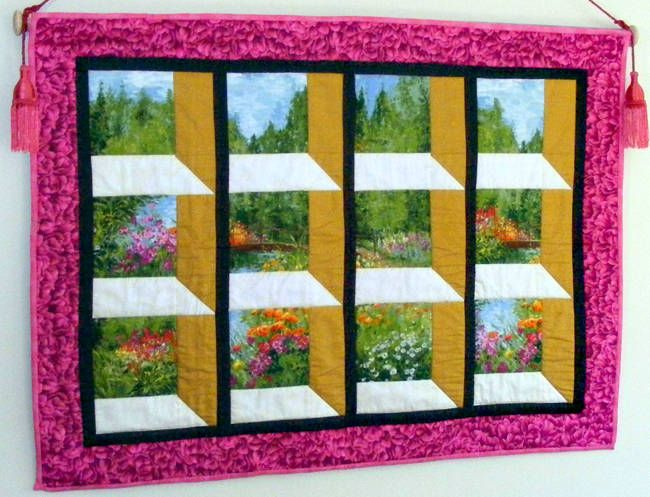 Gorgeous attic window quilt attic windows pinterest for Window quilt