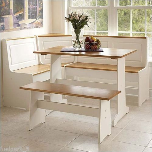 Corner Breakfast Nook 3 Piece Dining Set Table Seating Booth Bench Storage Home Pinterest