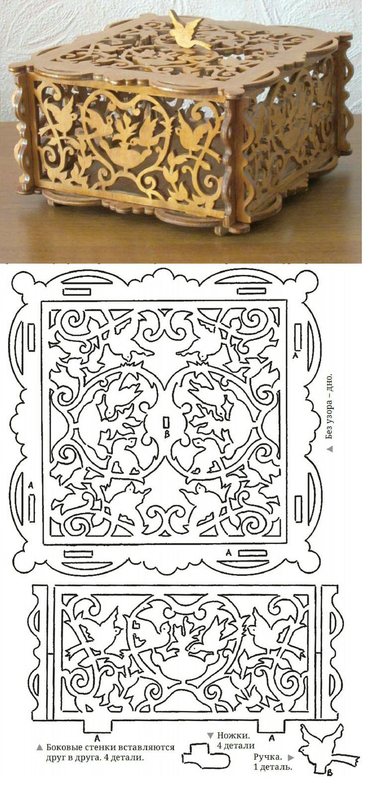 Шкатулки из фанеры своими руками лобзиком чертежи