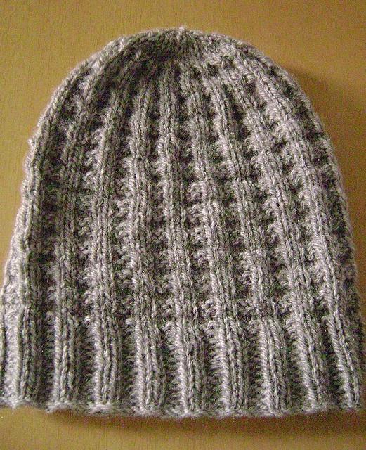 Waffle Stitch Knit Hat Pattern : waffle rib hat #knitting Knitting Pinterest