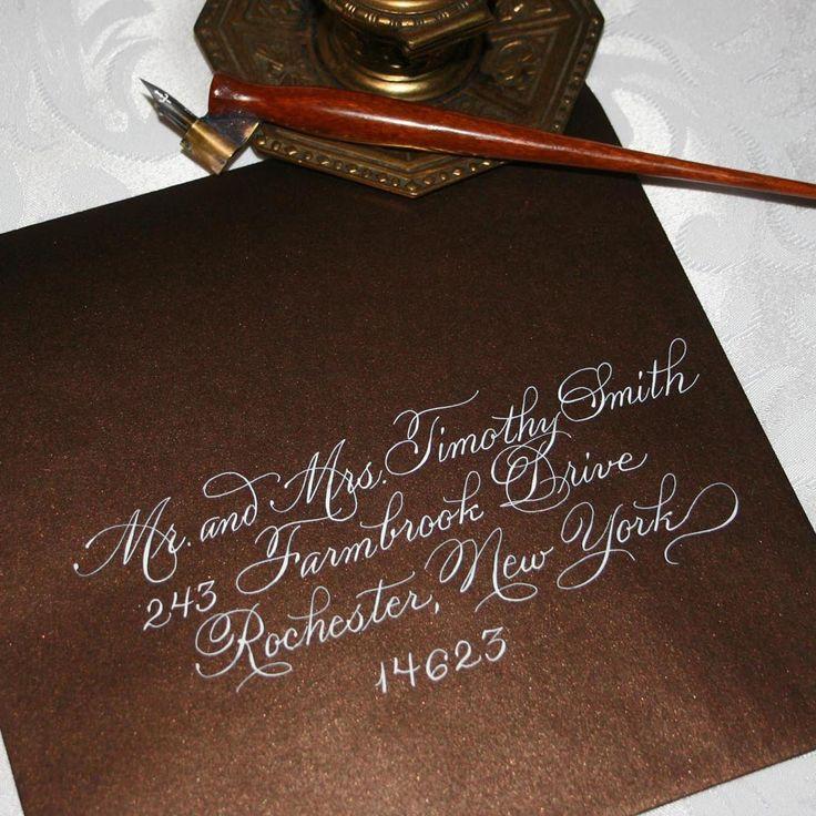 Calligraphy wedding envelope addressing calligraphy amp fonts amp typograph