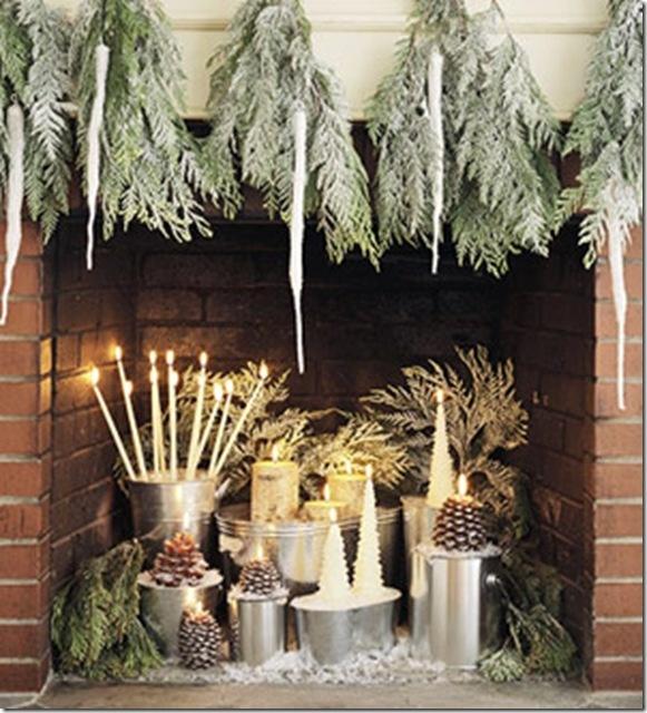 Holiday Fireplace Winter Pinterest