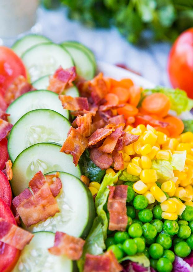 ... Chopped Salad with Homemade Creamy Buttermilk Ranch Dressing | Re