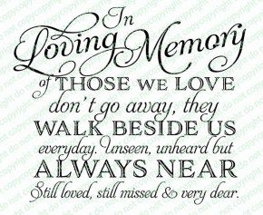 Of Those We Love Funeral Quote Word Art
