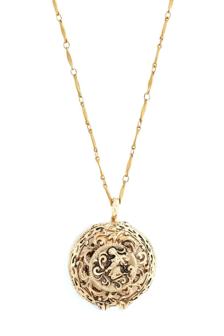 One of a Kind Jewelry - Brass Vintage Charm Necklace $55