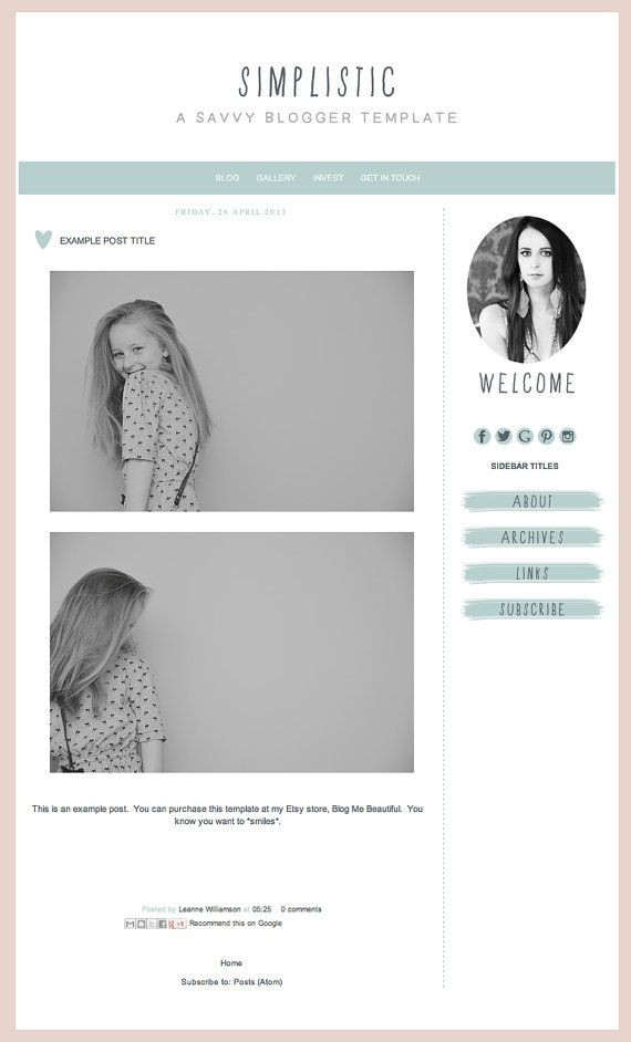 blogger template inc blog elements and xml simplistic simple t