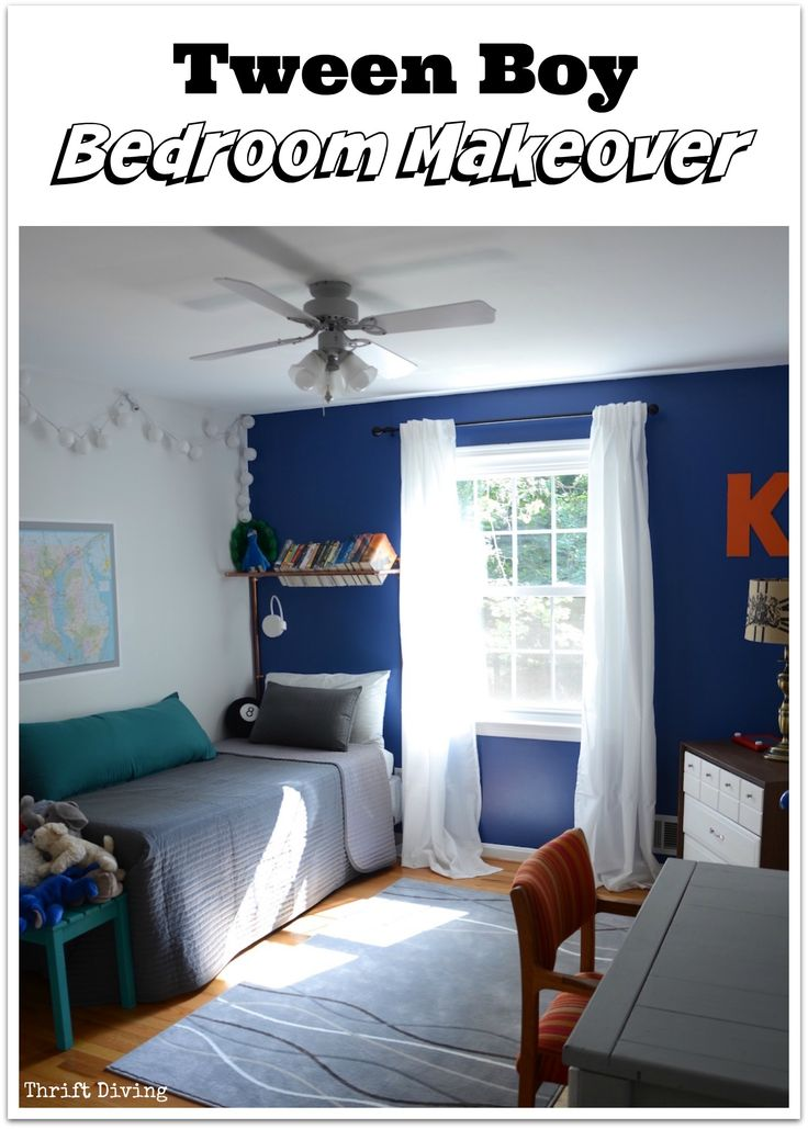 Blue Accent Walls Bedroom Makeovers And Blue Accents On