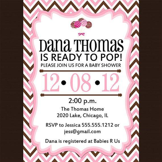 ready to pop baby shower invitation baby shower ideas pinterest