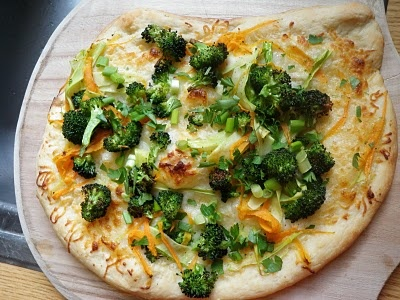 Rustic Broccoli and Carrot Pizza | Eat, Drink & Be Merry! | Pinterest