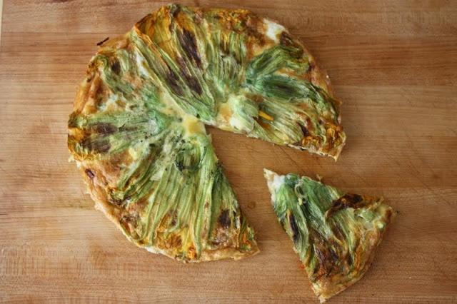 squash blossom frittata | Eggs | Pinterest