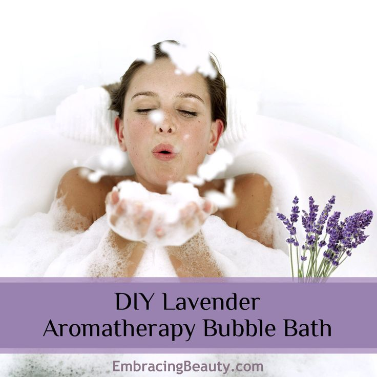 DIY Lavender Aromatherapy Bubble Bath