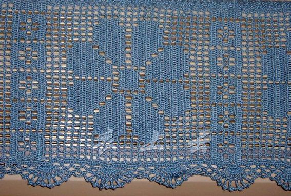 blaue gardine h keln crochet curtain h keln. Black Bedroom Furniture Sets. Home Design Ideas