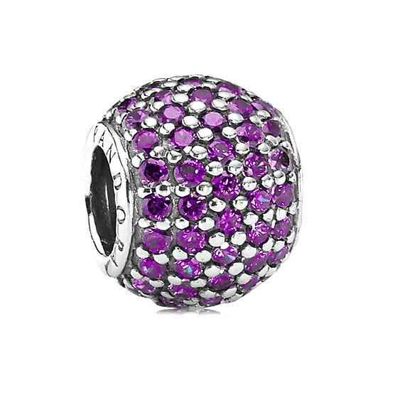 pandora purple pave lights charm charms