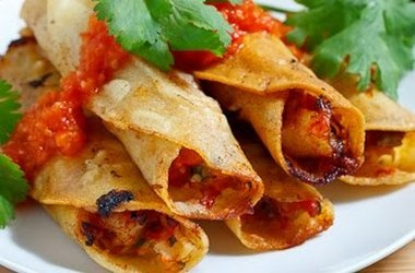 Crispy Rolled Shrimp Tacos | Mexican Inspired | Pinterest