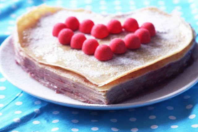 Gateau de crepes coeur | Sweetmeat | Pinterest
