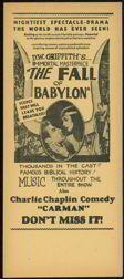 #CH119  - Extremely Rare Charlie Chaplain Silent Movie Handbill