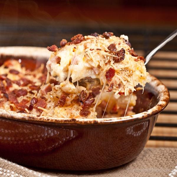 Cheesy Ham and Hash Brown Potato Casserole