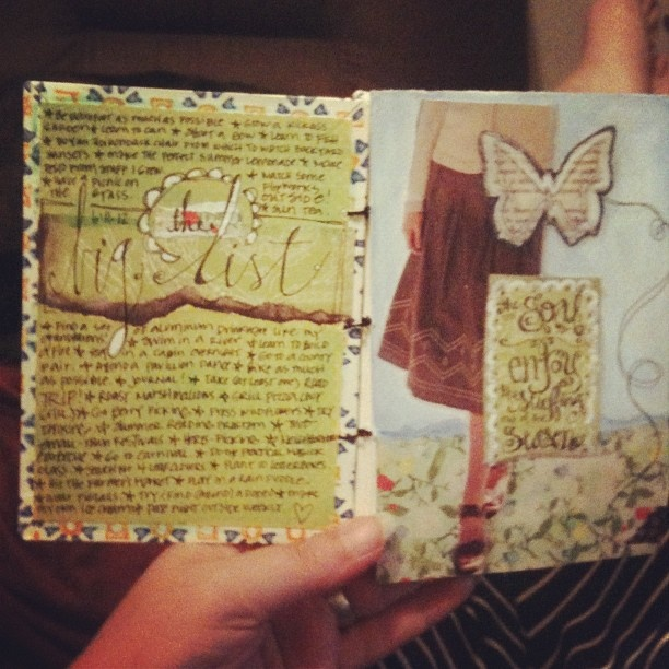 intro pages from the In The Sun journal
