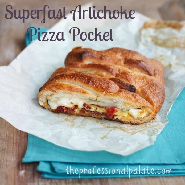 Superfast Artichoke Pizza Pocket