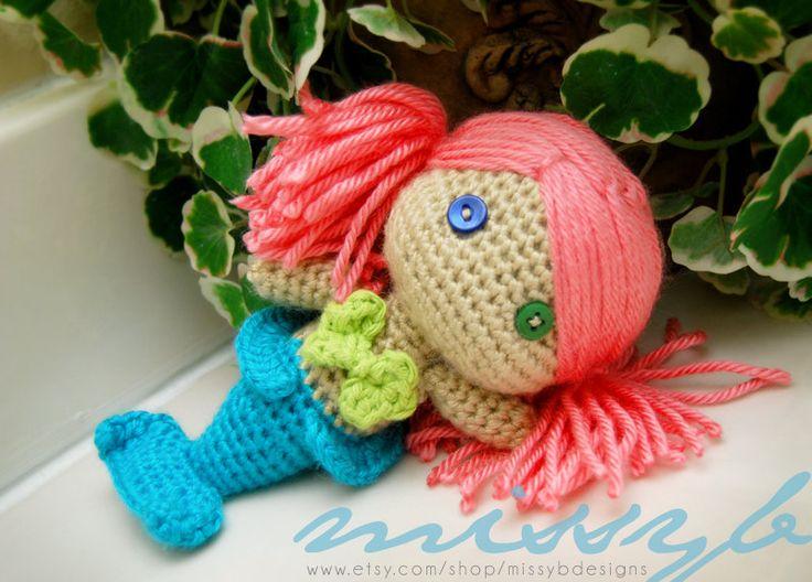 Mermaid Crochet Pattern - Mermaid Doll PDF Pattern - Stuffed Mermaid ...