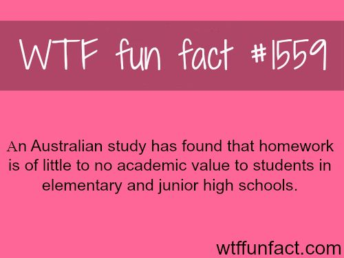 facts about homework