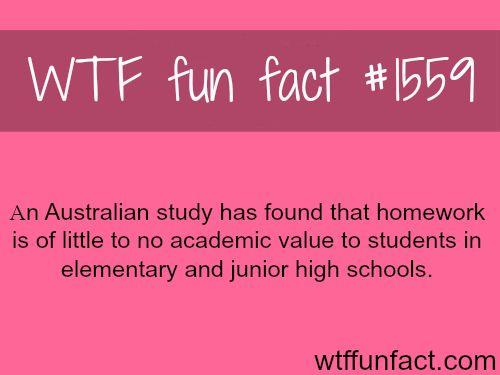 homework facts