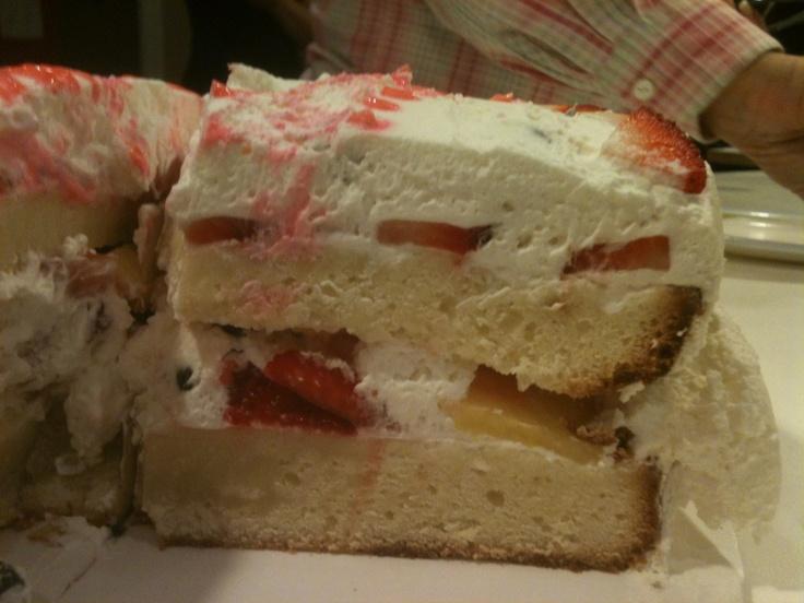 Sour Cream Coffee Cake with Fresh Strawberries, Blueberries and ...
