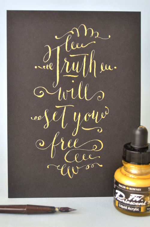 gold hand lettering - five stars!