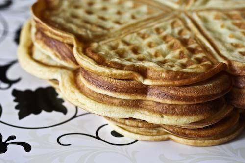 Norwegian Waffles-brown cheese, jam, or whipped cream optional