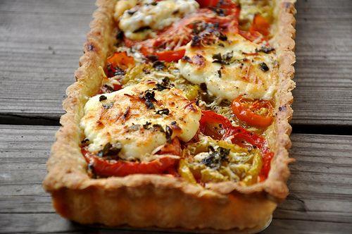 french tomato tart | Favorite Recipes | Pinterest